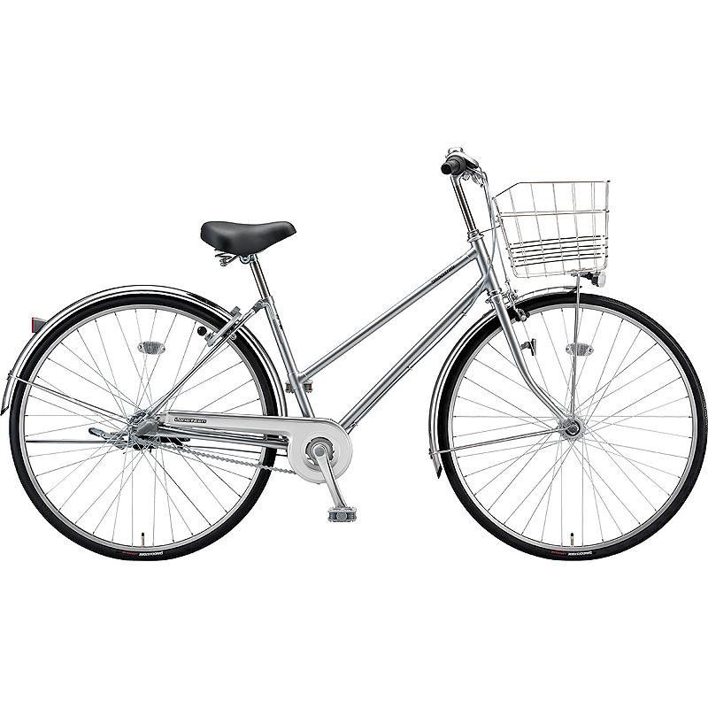 防犯登録付き 送料無料 ブリヂストン 自転車 ロングティーン LG73ST MHスパークルシルバー 【2020年モデル】【完全組立済自転車】
