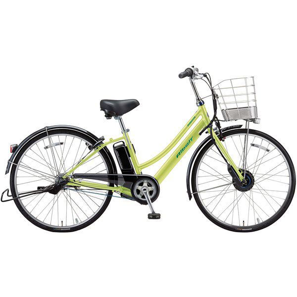 【防犯登録サービス中】ブリヂストン 電動自転車 アルベルトe AL6B49 T.ネオンライム 【2019年モデル】【完全組立済自転車】
