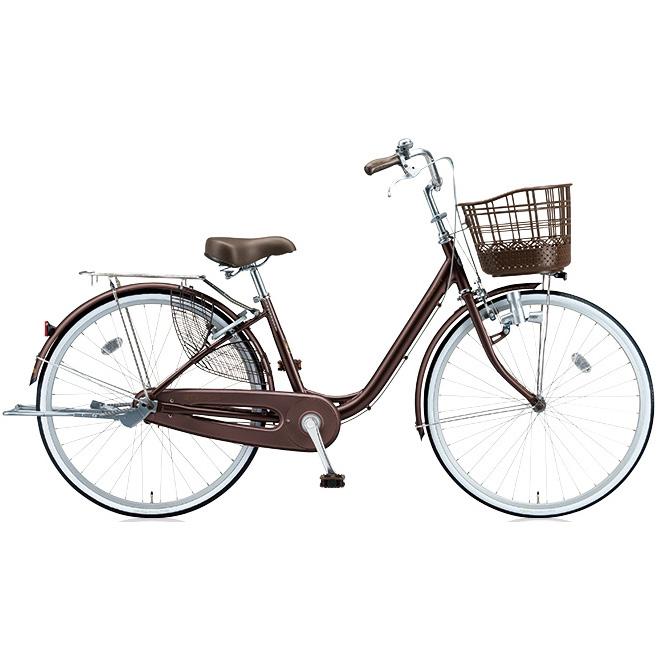 ブリヂストン シティサイクル アルミーユ AU40 F.Xカラメルブラウン 24インチ変速なし ダイナモランプ 【2017年モデル】【完全組立済自転車】