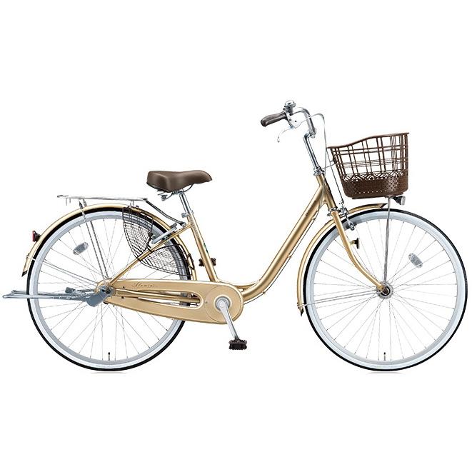 ブリヂストン シティサイクル アルミーユ AU40T M.Xプレシャスベージュ 24インチ変速なし 点灯虫(オートライト)ランプ 【2017年モデル】【完全組立済自転車】