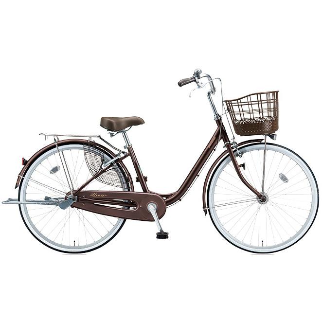 ブリヂストン シティサイクル アルミーユ AU40T F.Xカラメルブラウン 24インチ変速なし 点灯虫(オートライト)ランプ 【2017年モデル】【完全組立済自転車】