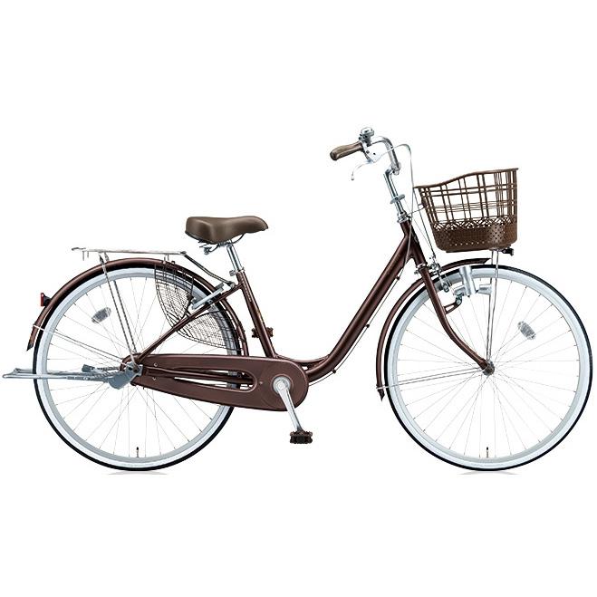ブリヂストン シティサイクル アルミーユ AU60 F.Xカラメルブラウン 26インチ変速なし ダイナモランプ 【2017年モデル】【完全組立済自転車】