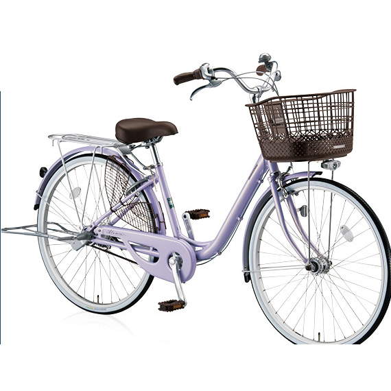 ブリヂストン シティサイクル アルミーユベルト AU60BT P.Xオパールラベンダー 26インチ変速なし 点灯虫(オートライト)ランプ 【2017年モデル】【完全組立済自転車】