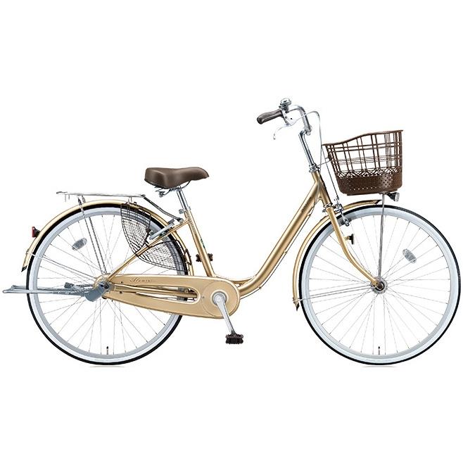 ブリヂストン シティサイクル アルミーユ AU63T M.Xプレシャスベージュ 26インチ3段変速 点灯虫(オートライト)ランプ 【2017年モデル】【完全組立済自転車】
