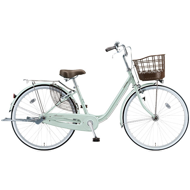 ブリヂストン シティサイクル アルミーユ AU63T P.Xオパールミント 26インチ3段変速 点灯虫(オートライト)ランプ 【2017年モデル】【完全組立済自転車】