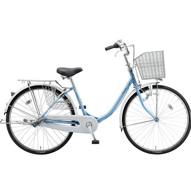 ブリヂストン シティサイクル エブリッジU EB40U M.Xブリアスカイ 24インチ変速なし ダイナモランプ 【2017年モデル】【完全組立済自転車】