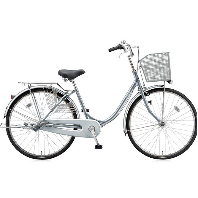 【防犯登録サービス中】ブリヂストン シティサイクル エブリッジU EB40UT M.XRシルバー 24インチ変速なし 点灯虫(オートライト)ランプ 【2017年モデル】【完全組立済自転車】