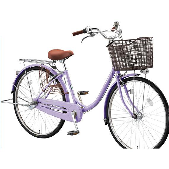 【防犯登録サービス中】ブリヂストン シティサイクル エブリッジU EB60UT E.Xスイートラベンダー 26インチ変速なし 点灯虫(オートライト)ランプ 【2017年モデル】【完全組立済自転車】