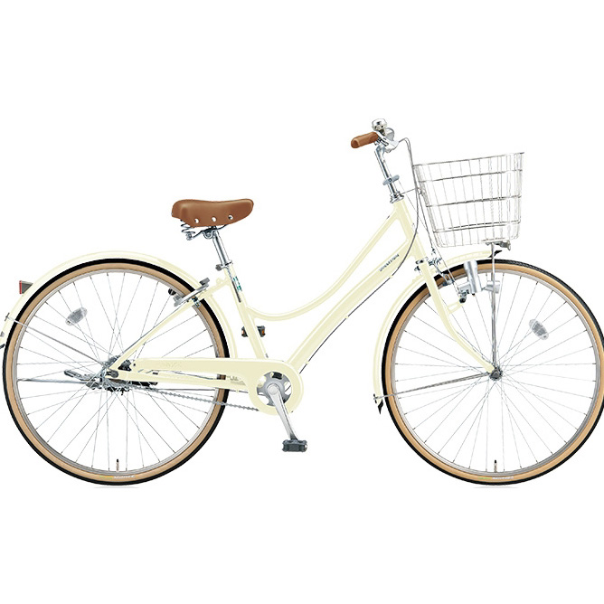 ブリヂストン シティサイクル エブリッジL EB70L E.Xクリームアイボリー 27インチ変速なし ダイナモランプ 【2017年モデル】【完全組立済自転車】