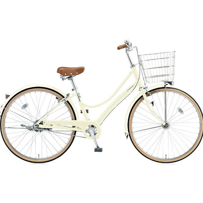 ブリヂストン シティサイクル エブリッジL EB73LT E.Xクリームアイボリー 27インチ3段変速 点灯虫(オートライト)ランプ 【2017年モデル】【完全組立済自転車】