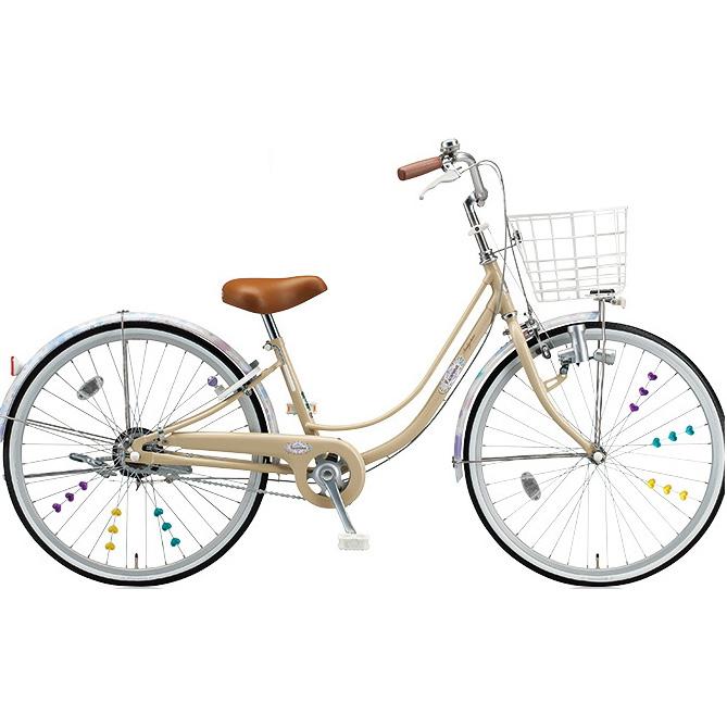ブリヂストン 女の子用自転車 リコリーナ RC40 E.Xカフェベージュ 24インチ変速なし ダイナモランプ 【2017年モデル】【完全組立済自転車】