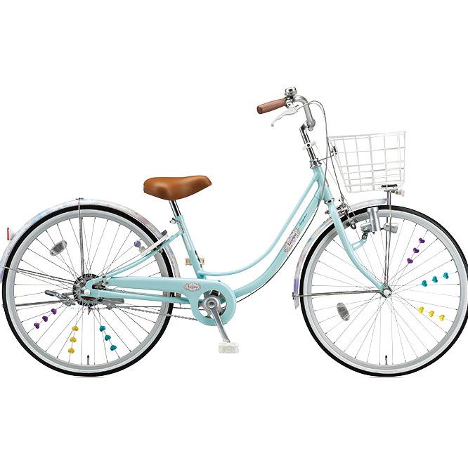 ブリヂストン 女の子用自転車 リコリーナ RC40 E.Xミストグリーン 24インチ変速なし ダイナモランプ 【2017年モデル】【完全組立済自転車】