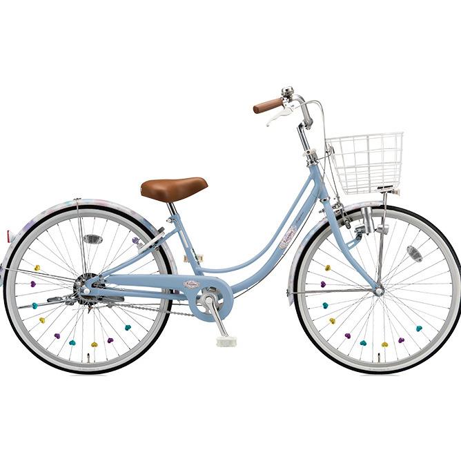 ブリヂストン 女の子用自転車 リコリーナ RC40 E.Xカームブルー 24インチ変速なし ダイナモランプ 【2017年モデル】【完全組立済自転車】