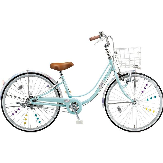 ブリヂストン 女の子用自転車 リコリーナ RC43 E.Xミストグリーン 24インチ3段変速 ダイナモランプ 【2017年モデル】【完全組立済自転車】