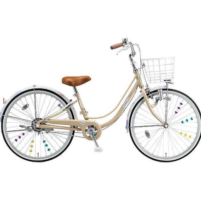 ブリヂストン 女の子用自転車 リコリーナ RC60 E.Xカフェベージュ 26インチ変速なし ダイナモランプ 【2017年モデル】【完全組立済自転車】