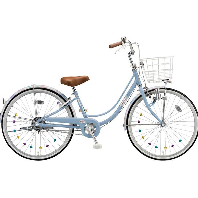 ブリヂストン 女の子用自転車 リコリーナ RC60 E.Xカームブルー 26インチ変速なし ダイナモランプ 【2017年モデル】【完全組立済自転車】
