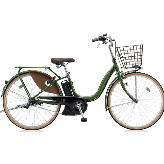 【送料無料】 ブリヂストン アシスタファイン A6FC18 E.Xナチュラルオリーブ 26インチ3段変速 電動自転車【2018年モデル】【完全組立済自転車】 【北海道、九州、沖縄、離島は送料別】