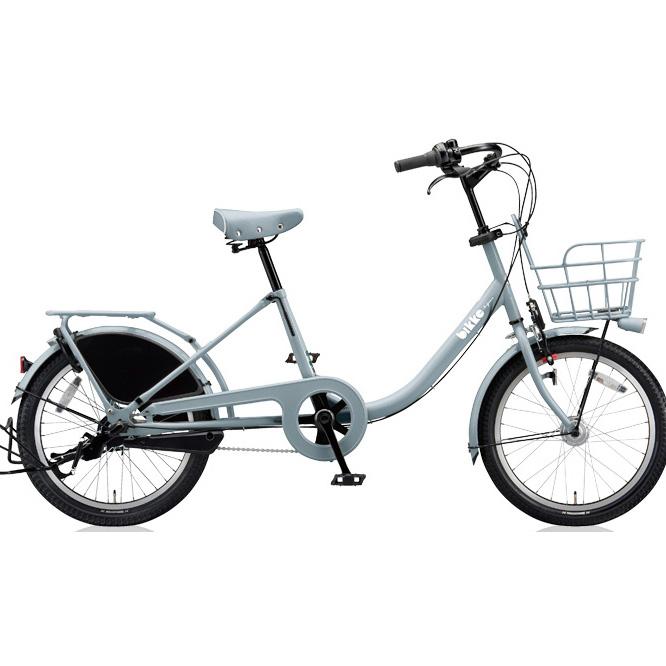 ブリヂストン シティサイクル ビッケモブ(bikke MOB) b BM03UT E.XBKブルーグレー 【2018年モデル】【完全組立済自転車】