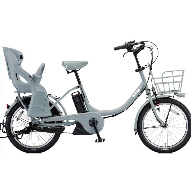 【送料無料】 ブリヂストン ビッケモブ(bikke MOB) e BM0C38 E.XBKブルーグレー 子供乗せ自転車【2018年モデル】【完全組立済自転車】 【北海道、九州、沖縄、離島は送料別】