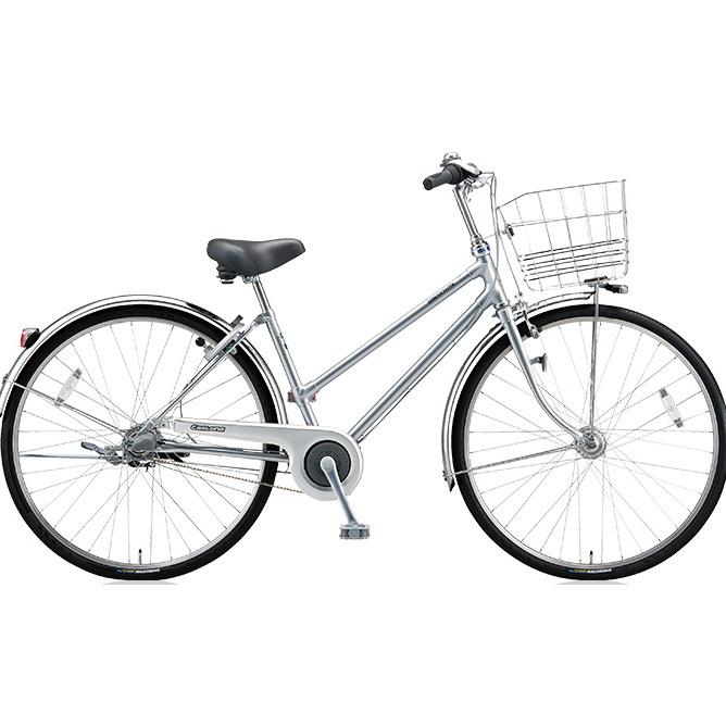 ブリヂストン シティサイクル キャスロングDX ベルトS型モデル CD63SB M.ブリリアントシルバー 26インチ3段変速 【2018年モデル】【完全組立済自転車】