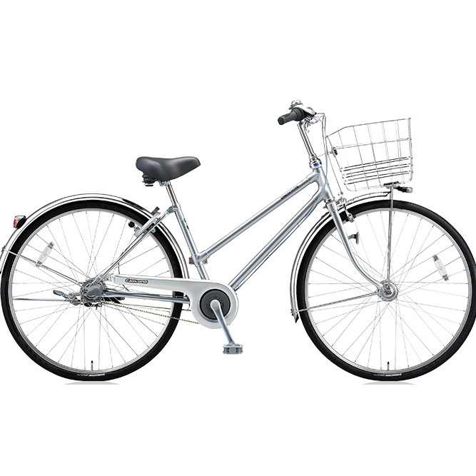 ブリヂストン シティサイクル キャスロングDX ベルトS型モデル CD73SB M.ブリリアントシルバー 27インチ3段変速 【2018年モデル】【完全組立済自転車】