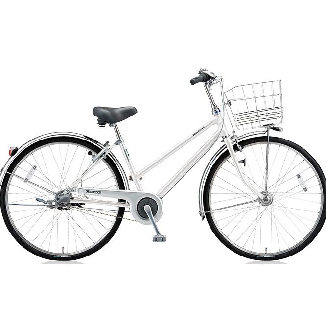 ブリヂストン シティサイクル キャスロングDX ベルトS型モデル CD73SB P.シーニックホワイト 27インチ3段変速 【2018年モデル】【完全組立済自転車】