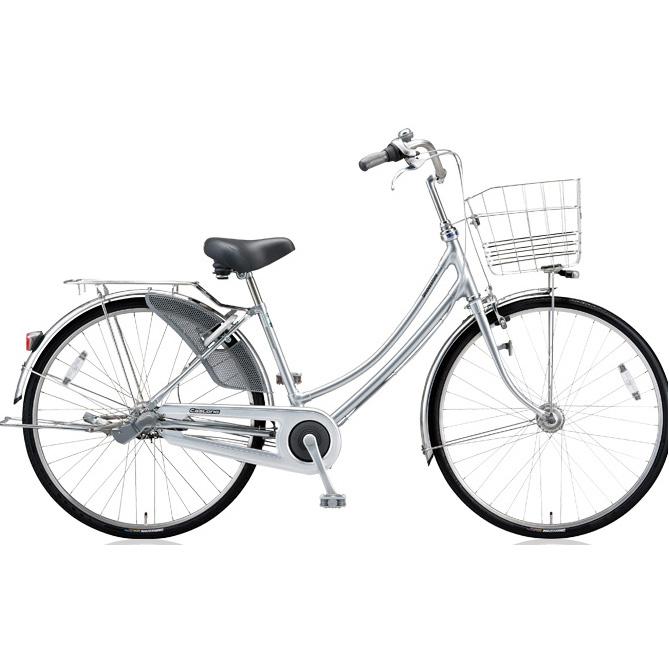 ブリヂストン シティサイクル キャスロングDX ベルトW型モデル CD73WB M.ブリリアントシルバー 27インチ3段変速 【2018年モデル】【完全組立済自転車】