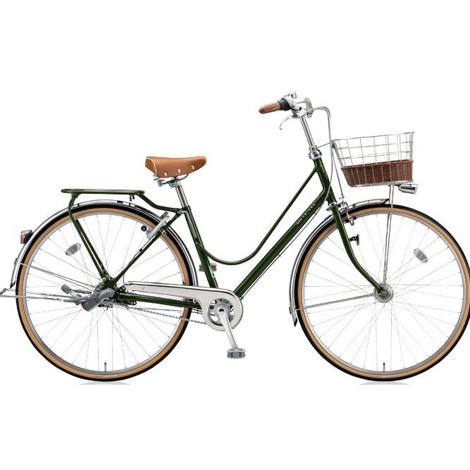 ブリヂストン シティサイクル カジュナ(cajuna) ベーシックラインDX CJB6TP E.Xダークオリーブ 26インチ3段変速 【2018年モデル】【完全組立済自転車】