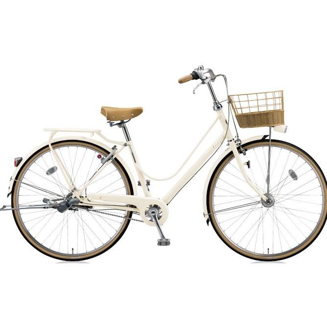 ブリヂストン シティサイクル カジュナ(cajuna) スイートラインDX CJS7TP E.Xエッグシェルベージュ 27インチ3段変速 【2018年モデル】【完全組立済自転車】