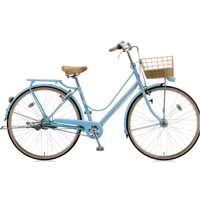 ブリヂストン シティサイクル カジュナ(cajuna) スイートラインDX CJS7TP E.Xカームブルー 27インチ3段変速 【2018年モデル】【完全組立済自転車】