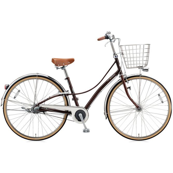 【防犯登録サービス中】ブリヂストン シティサイクル ロココ(LOCOCO) ベルトモデル CL7BT M.ジュエルブラウン 【2018年モデル】【完全組立済自転車】