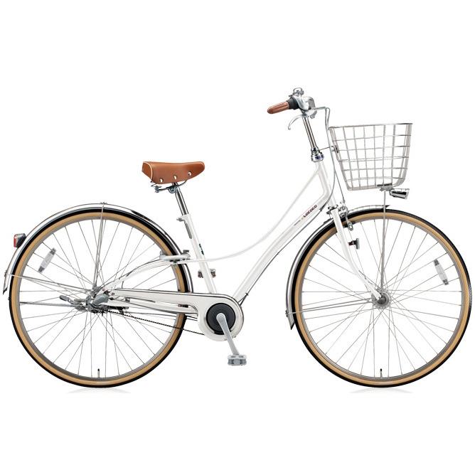 ブリヂストン シティサイクル ロココ(LOCOCO) ベルトモデル CL7BT P.シーニックホワイト 【2018年モデル】【完全組立済自転車】