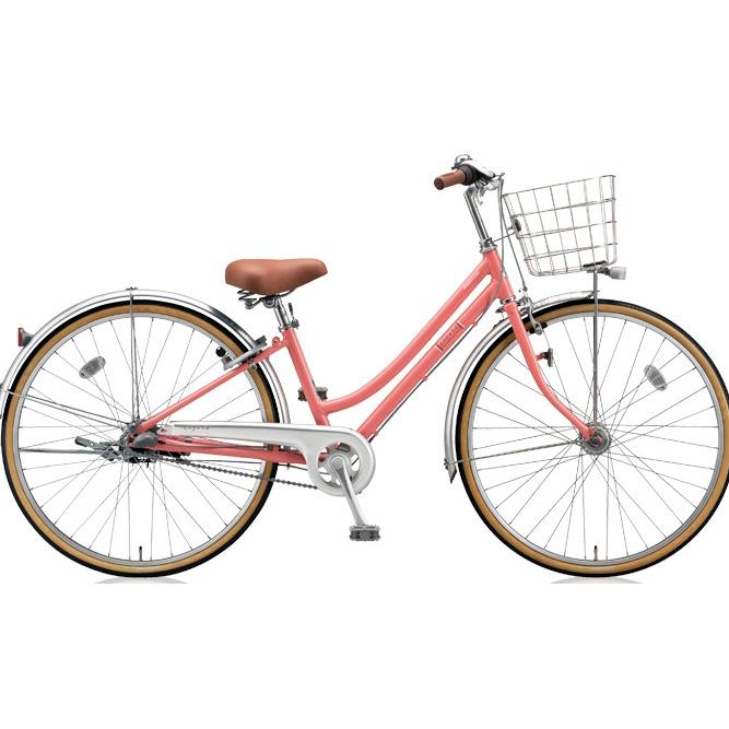 ブリヂストン シティサイクル ロペタ LP63T P.Xピーチピンク 【2018年モデル】【完全組立済自転車】