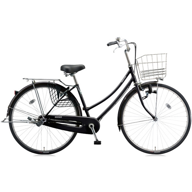 ブリヂストン シティサイクル スクリッジ W型 SR70W E.Xブラック 27インチ変速なし ダイナモランプ 【2018年モデル】【完全組立済自転車】