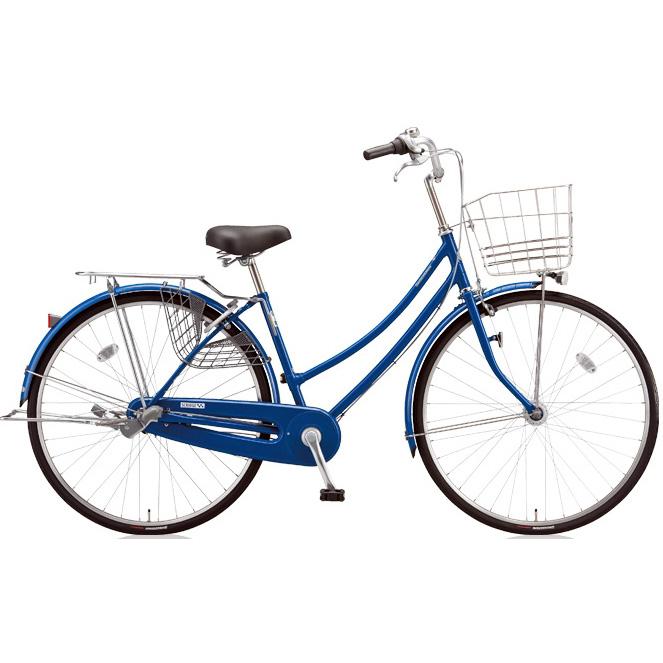 ブリヂストン シティサイクル スクリッジ W型 SR70WT F.Xソリッドブルー 27インチ変速なし 点灯虫ランプ 【2018年モデル】【完全組立済自転車】