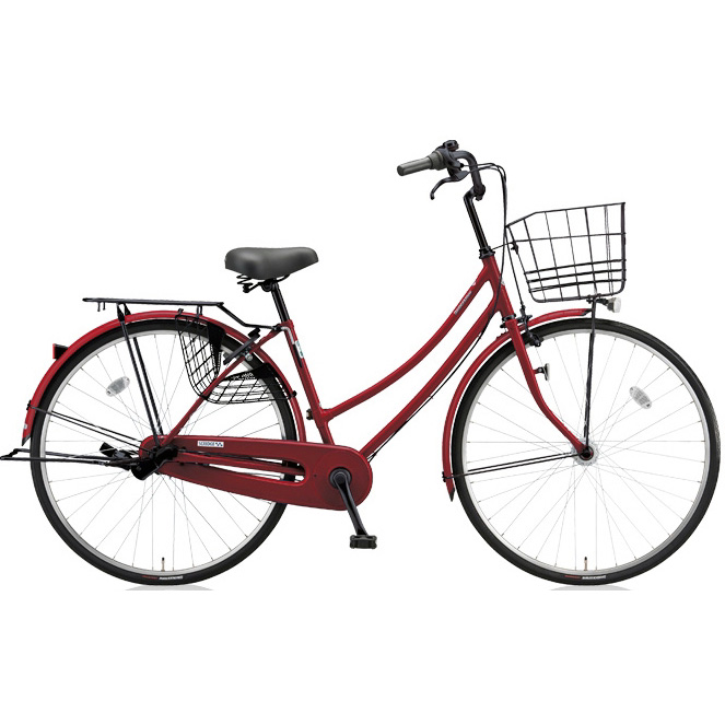 ブリヂストン シティサイクル スクリッジ W型 SR73WT P.Xスターレッド/BK 27インチ3段変速 点灯虫ランプ 【2018年モデル】【完全組立済自転車】