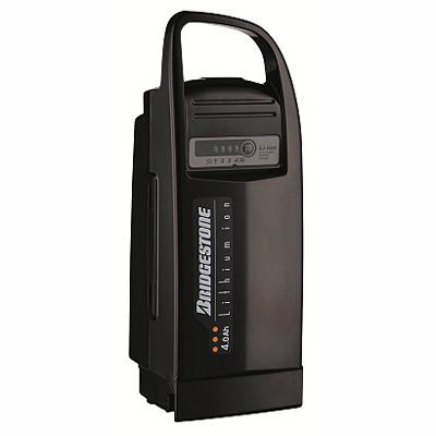 供普利司通電動ashisuta自行車使用的電池老鋰離子4.0Ah LI4.0N.C黑色