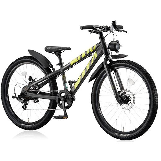 ブリヂストン BWX エリート BXE476 ガンメタリック/イエロー 24インチ ジュニアバイク【2016年モデル】【完全組立済自転車】