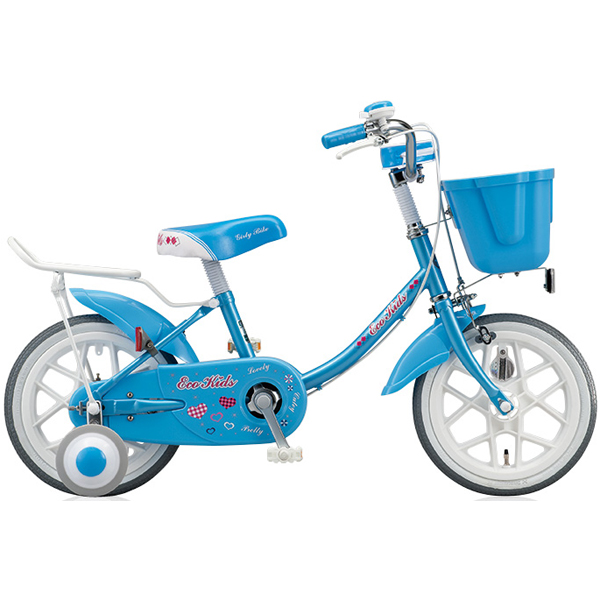ブリヂストン キッズ用自転車 エコキッズ カラフル EK14C6 ブルー 【2016年モデル】【完全組立済 自転車】