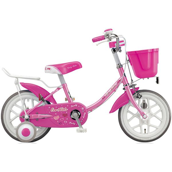ブリヂストン キッズ用自転車 エコキッズ カラフル EK18C6 ピンク 【2016年モデル】【完全組立済 自転車】