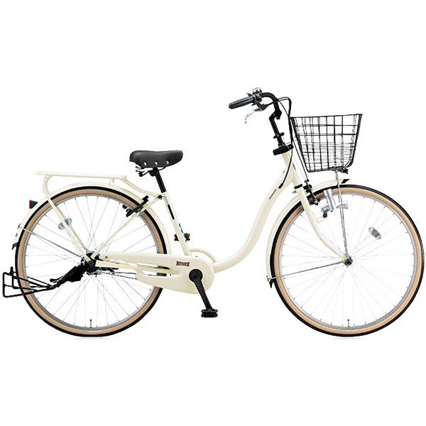 ブリヂストン シティサイクル YUUVI II YV606 E.Xクリームアイボリー 26インチ変速なし ダイナモランプ【2016年モデル】【完全組立済 自転車】