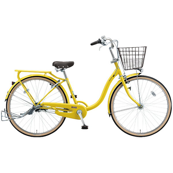 ブリヂストン シティサイクル YUUVI II YV60T6 P.Xピュアレモン 26インチ変速なし 点灯虫ランプ【2016年モデル】【完全組立済 自転車】