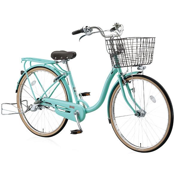 ブリヂストン シティサイクル YUUVI II YV60T6 E.Xフレンチミント 26インチ変速なし 点灯虫ランプ【2016年モデル】【完全組立済 自転車】