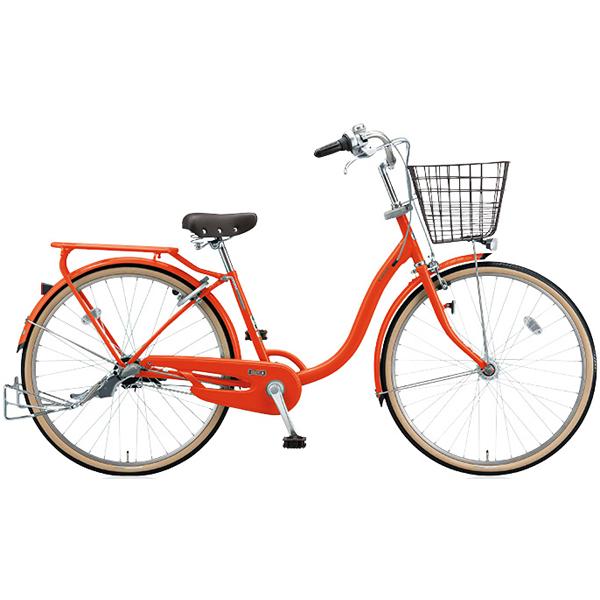 ブリヂストン シティサイクル YUUVI II YV60T6 F.Xソリッドオレンジ 26インチ変速なし 点灯虫ランプ【2016年モデル】【完全組立済 自転車】