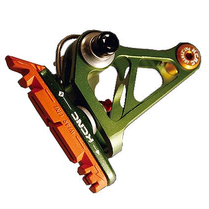 送料無料 KCNC ブレーキ カンチレバーブレーキ 34.9mm 6061AL グリーン