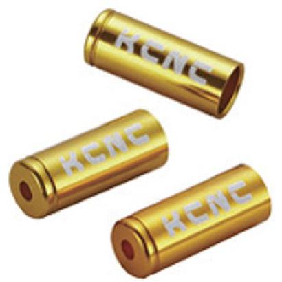 送料無料 KCNC シフトケーブル ディレーラーケーブルハウジングキャップ 4mm 150PCS ゴールド