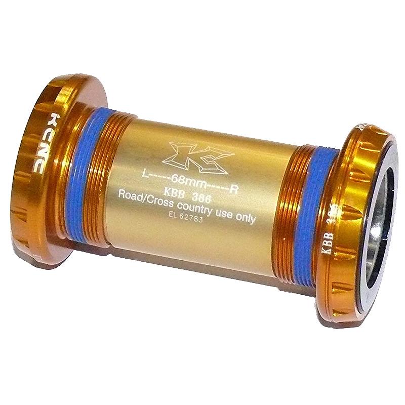 送料無料 KCNC BBセット KBB386 BB KBB386 EVO 30mmアクスルクランクセットヨウ ゴールド