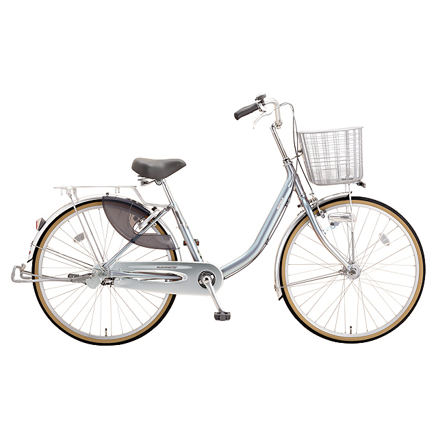 ミヤタ(MIYATA) シティサイクル クォーツエクセルライト DQXU43L81 ミラーシルバー 【2019年モデル】【完全組立済自転車】