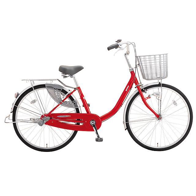 送料無料 ミヤタ(MIYATA) シティサイクル アルミスターU DAU60A91 (OR71) キャンディーレッド 【2020年モデル】【完全組立済自転車】