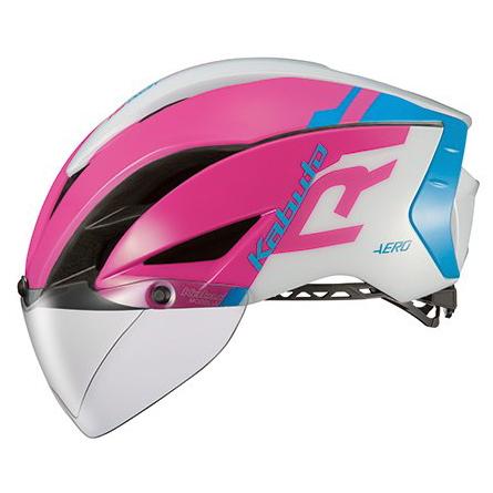 送料無料 OGK KABUTO(オージーケーカブト) ヘルメット エアロ-R1 G1ピンクブルー L/XL